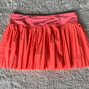 Lululemon Tennis skort orange coral size 8